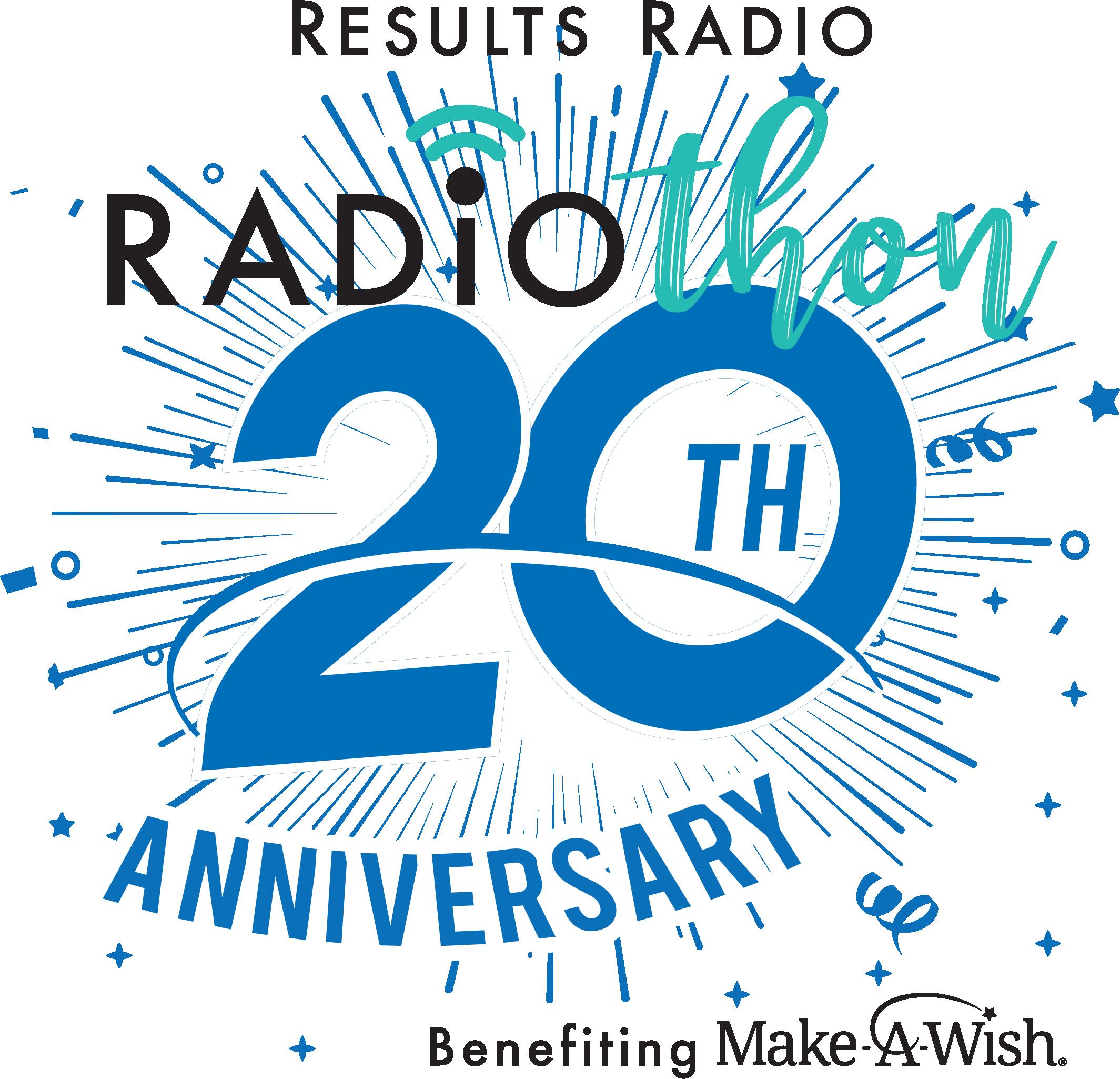 20th anniversary radiothon logo - bk edits